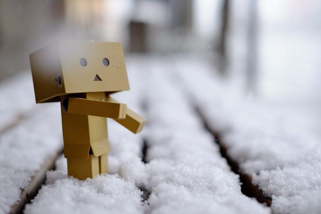 雪の日のダンボー